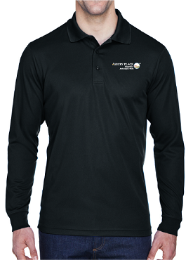 Core 365 Men's Pinnacle Performance Long-Sleeve Piqué Polo