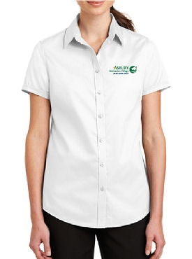 Port Authority Ladies Short Sleeve SuperPro Twill Shirt