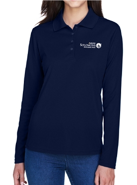 Core 365 Ladies' Pinnacle Performance Long-Sleeve Piqué Polo